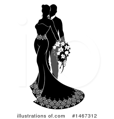 Wedding Couple Clipart #1467312 by AtStockIllustration