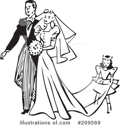 Wedding Couple Clipart #209569 by BestVector