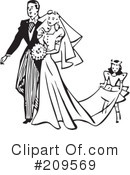 Royalty-Free (RF) wedding couple Clipart Illustration #209569