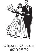 Royalty-Free (RF) wedding couple Clipart Illustration #209572