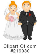 Royalty-Free (RF) wedding couple Clipart Illustration #219030