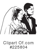 Royalty-Free (RF) wedding couple Clipart Illustration #225804