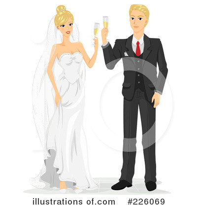 Royalty-Free (RF) Wedding Couple Clipart Illustration by BNP Design Studio - Stock Sample #226069