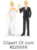 Royalty-Free (RF) Wedding Couple Clipart Illustration #226069