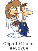 Royalty-Free (RF) Wedding Couple Clipart Illustration #435784