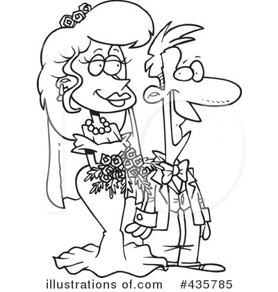 Wedding Couple Clipart #435785 by toonaday