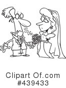 Royalty-Free (RF) Wedding Couple Clipart Illustration #439433