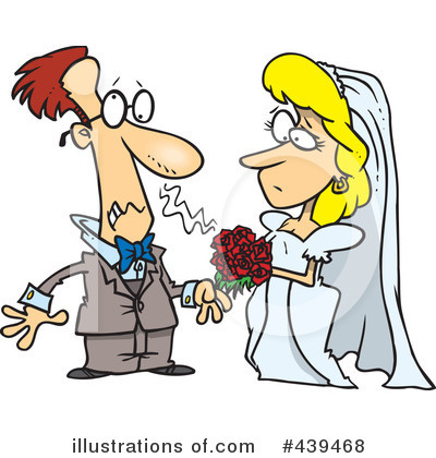 Wedding Couple Clipart #439468 by toonaday