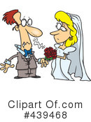 Royalty-Free (RF) Wedding Couple Clipart Illustration #439468