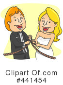 Royalty-Free (RF) wedding couple Clipart Illustration #441454