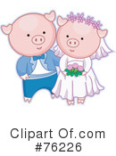Royalty-Free (RF) Wedding Couple Clipart Illustration #76226