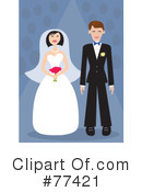 Royalty-Free (RF) Wedding Couple Clipart Illustration #77421