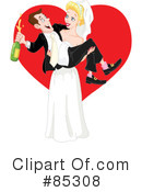 Royalty-Free (RF) wedding couple Clipart Illustration #85308