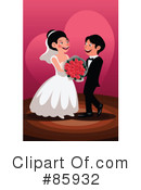 Royalty-Free (RF) Wedding Couple Clipart Illustration #85932