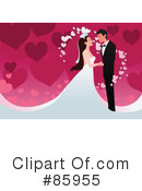 Royalty-Free (RF) wedding couple Clipart Illustration #85955