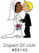 Royalty-Free (RF) Wedding Couple Clipart Illustration #89143