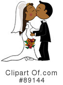 Royalty-Free (RF) Wedding Couple Clipart Illustration #89144