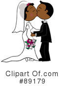 Royalty-Free (RF) wedding couple Clipart Illustration #89179