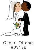 Royalty-Free (RF) Wedding Couple Clipart Illustration #89192