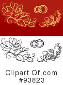 Royalty-Free (RF) Wedding Design Elements Clipart Illustration #93823