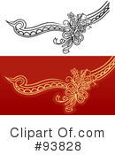 Royalty-Free (RF) Wedding Design Elements Clipart Illustration #93828