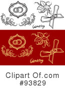 Royalty-Free (RF) Wedding Design Elements Clipart Illustration #93829