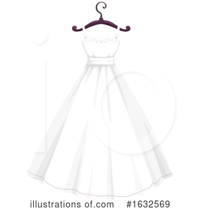 Wedding Dress Clipart #1632569 by Vector Tradition SM