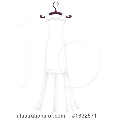 Wedding Dress Clipart #1632571 by Vector Tradition SM
