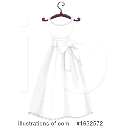 Wedding Dress Clipart #1632572 by Vector Tradition SM