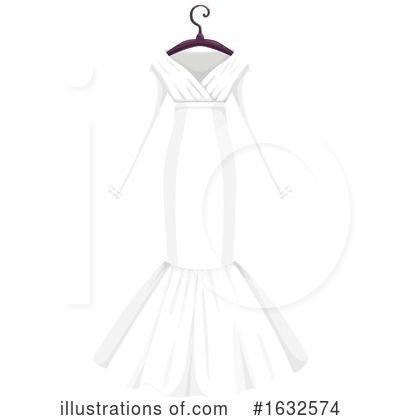 Wedding Dress Clipart #1632574 by Vector Tradition SM