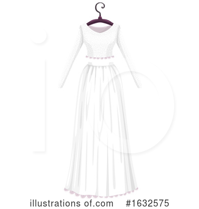 Wedding Dress Clipart #1632575 by Vector Tradition SM