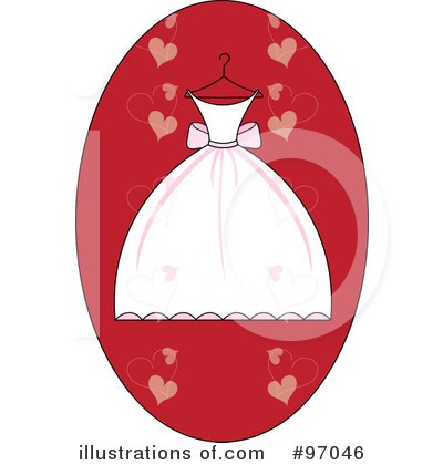 Black Bridesmaid Dress on Wedding Dress Clipart  97046 By Pams Clipart   Royalty Free  Rf  Stock