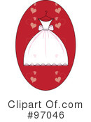 Royalty-Free (RF) Wedding Dress Clipart Illustration #97046