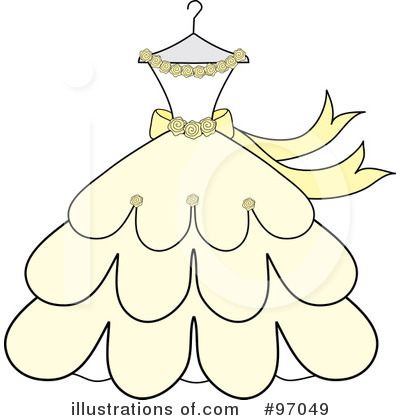 Dress Party on Wedding Dress Clipart  97049 By Pams Clipart   Royalty Free  Rf  Stock