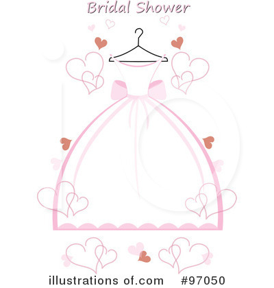 Royalty-Free (RF) Wedding Dress Clipart Illustration by Pams Clipart - Stock Sample #97050