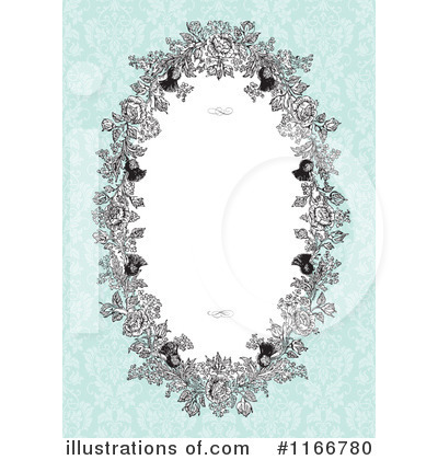 Floral Invite Clipart #1166780 by BestVector