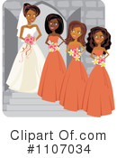 Royalty-Free (RF) Wedding Party Clipart Illustration #1107034