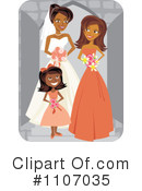 Royalty-Free (RF) Wedding Party Clipart Illustration #1107035