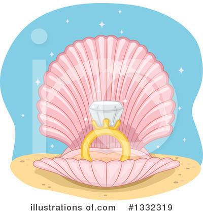 Seashell Clipart #1332319 by BNP Design Studio