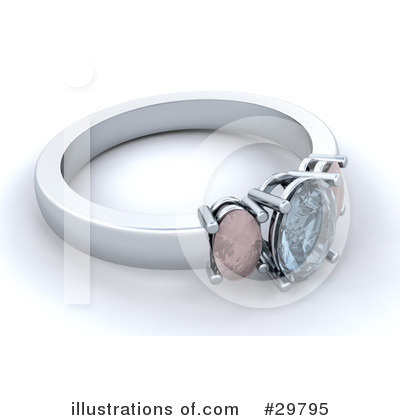 Royalty-Free (RF) Wedding Ring Clipart Illustration by KJ Pargeter - Stock Sample #29795