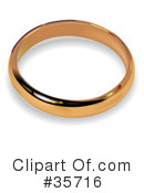 Royalty-Free (RF) Wedding Ring Clipart Illustration #35716