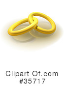 Royalty-Free (RF) Wedding Ring Clipart Illustration #35717