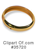 Royalty-Free (RF) Wedding Ring Clipart Illustration #35720