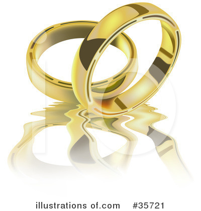 RoyaltyFree RF Wedding Ring Clipart Illustration by dero Stock Sample