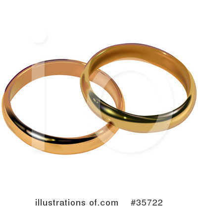 Royalty-Free (RF) Wedding Ring Clipart Illustration by dero - Stock Sample #35722