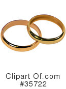 Royalty-Free (RF) Wedding Ring Clipart Illustration #35722