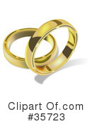 Royalty-Free (RF) wedding ring Clipart Illustration #35723