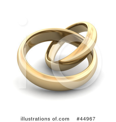 Wedding Rings Clipart #44967 by Jiri Moucka