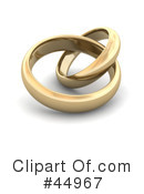 Royalty-Free (RF) wedding ring Clipart Illustration #44967