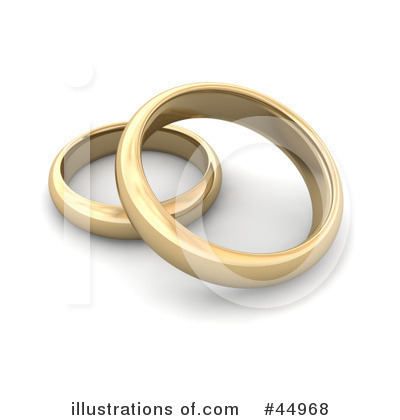 Wedding Rings Clipart #44968 by Jiri Moucka